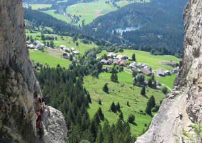 Aussicht vom Klettersteig Pinut