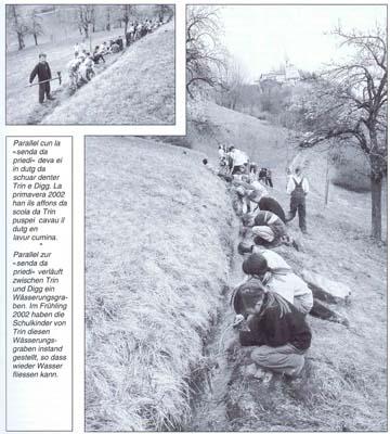 Chronik Bwwässerungskanal Instandstellung durch Schüler 2002