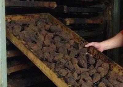 getrocknete Birnen, direkt aus dem Ofen